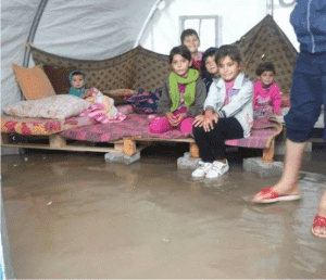 Yezidi Update:<br>Camps Flooded
