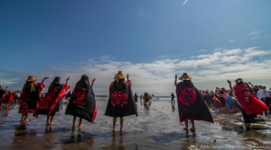 Quinault protest agains oil pipe line
